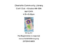April Craft Club