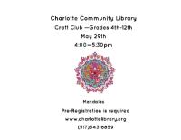 Craft Club flyer