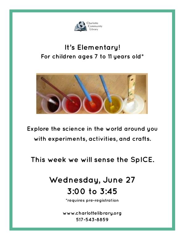 It's Elementary June 27
