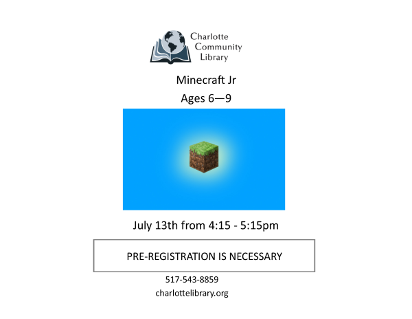 July Minecraft Jr.