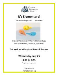 It's Elementary Sinkers & Floaters