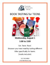 Teen Book Tasting, August 1