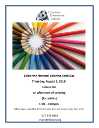 Afternoon of Coloring for Adults, August 2