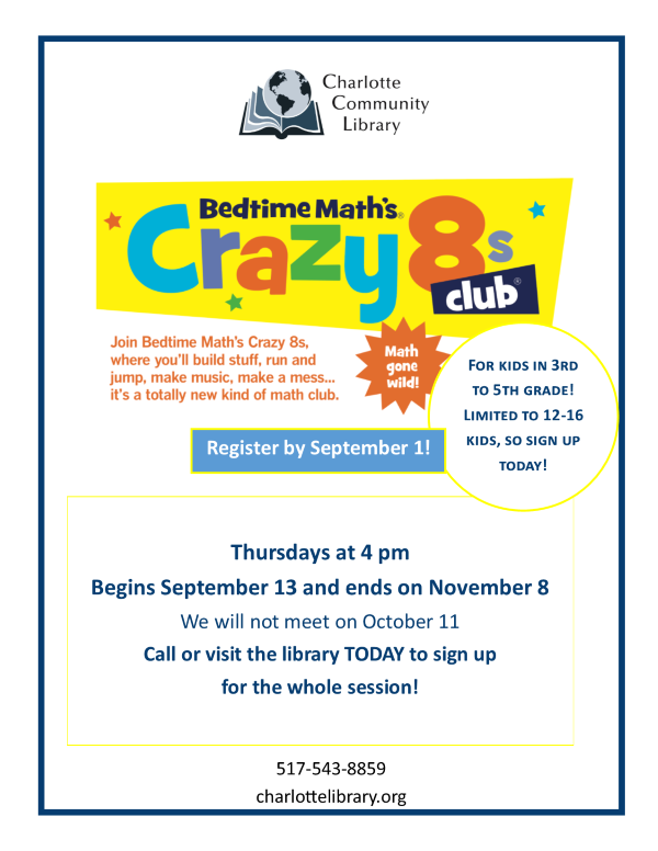 Crazy 8s Math Club, Grades 3-5