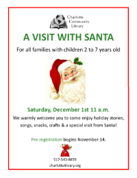 Pre-register for Santa Visit
