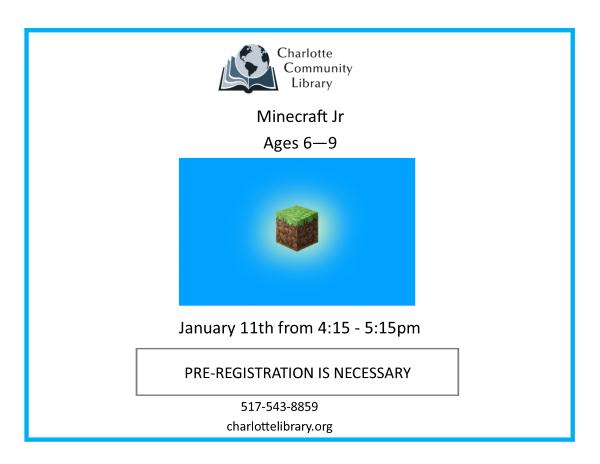 January Minecraft Jr.