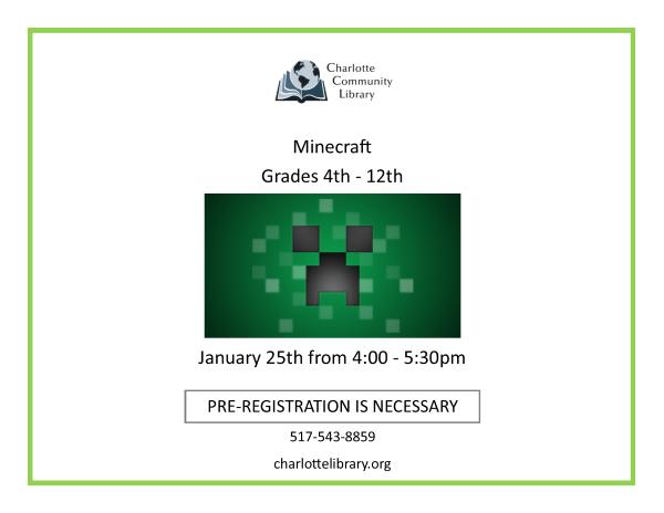 January Minecraft