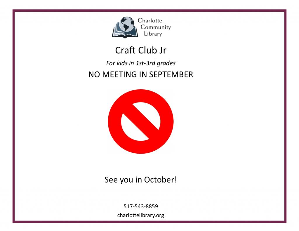 Craft Club Jr - Canceled