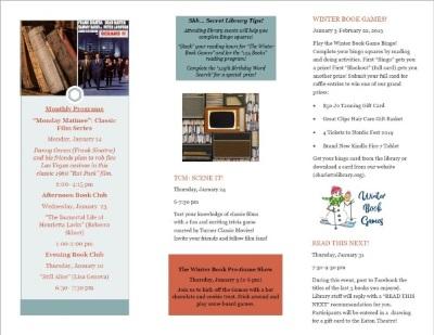 January Adult Program Brochure