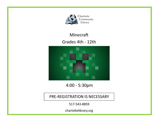 Minecraft | Grades 4th – 12th