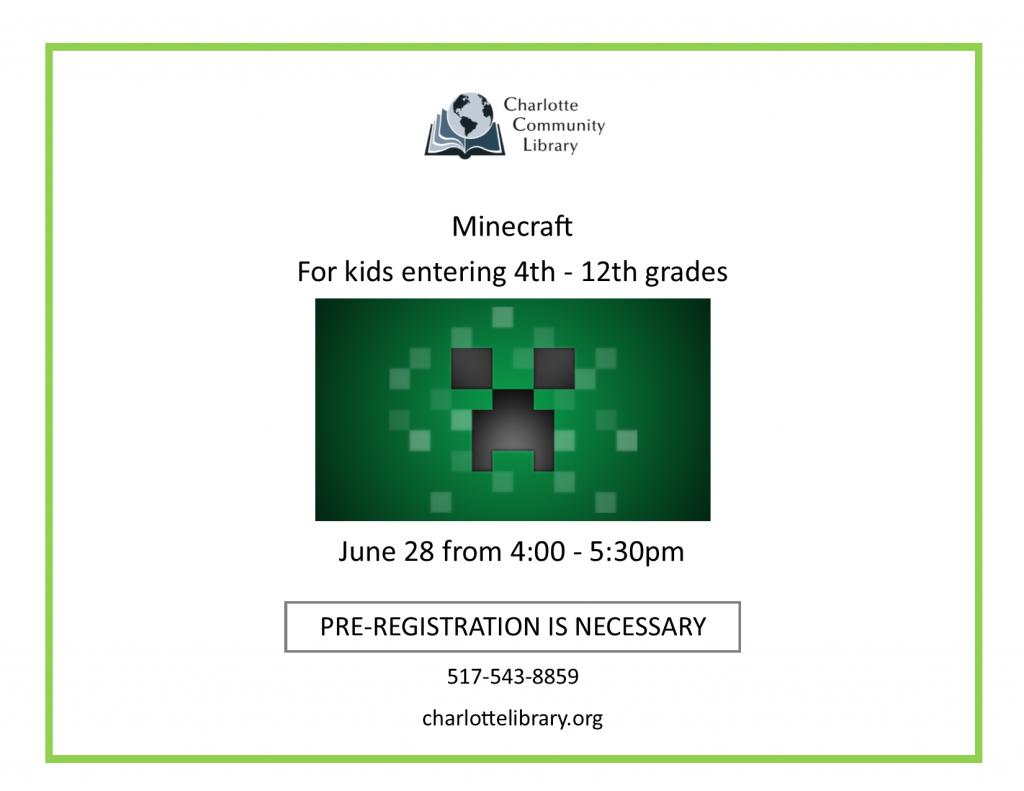 Minecraft   Grades 4th - 12th