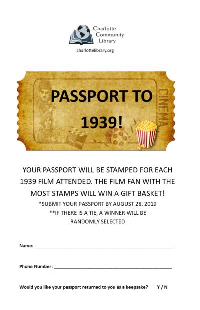 Adult Monday Matinee 1939 Passport