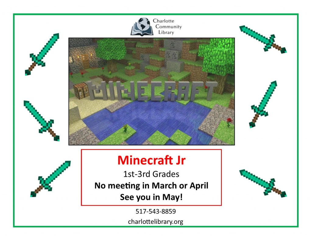 Minecraft Jr canceled for March & April