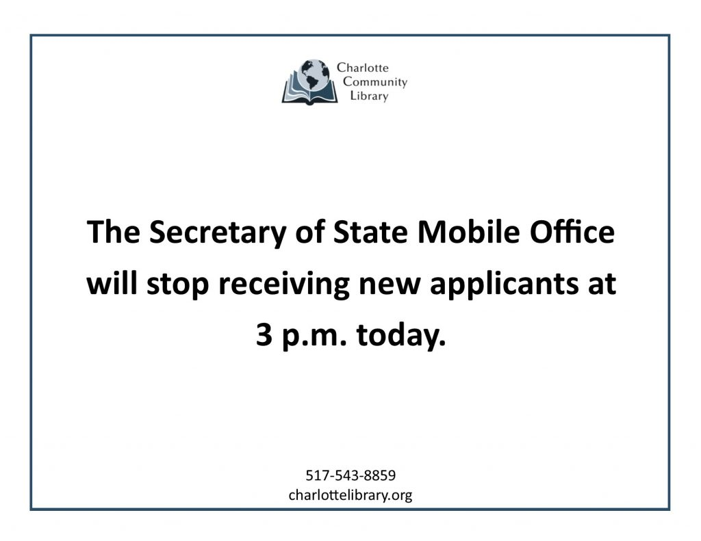 Mobile Office closing at 3 p.m. today Tuesday Feb 11