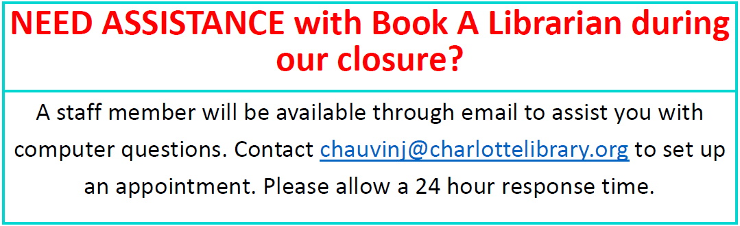 Book a Librarian help while closed
