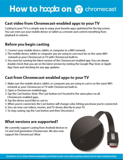 hoopla on chromecast