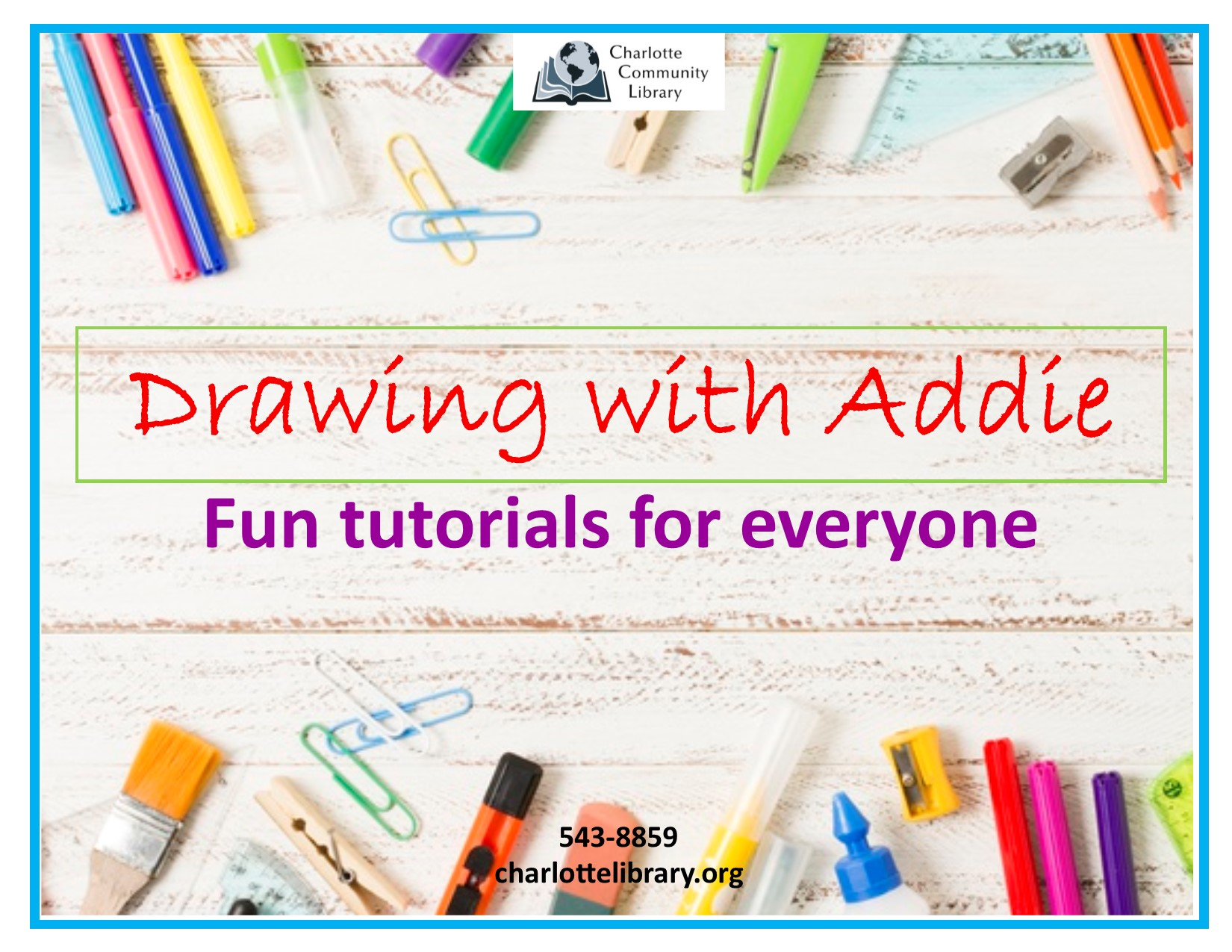 Facebook Drawing with Addie Monday Noon