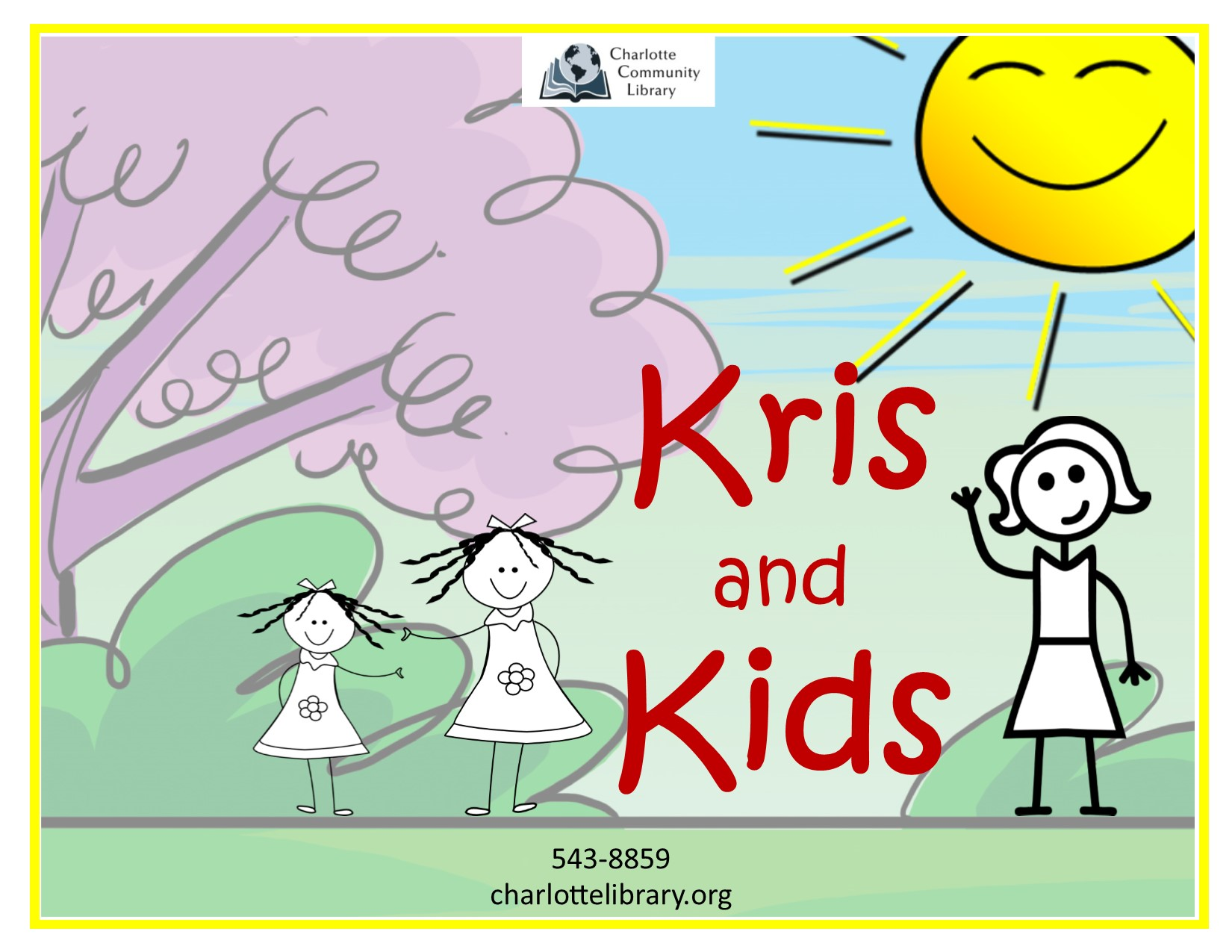 Facebook event Kris and Kids Wednesdays Noon