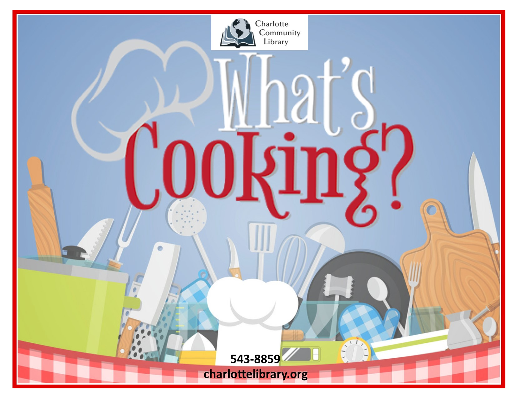 Facebook event What's Cooking? Tuesdays Noon