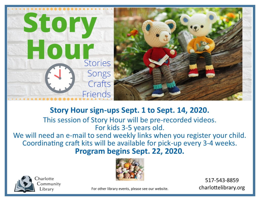 Story Hour Sign-up @ Pre-recorded videos
