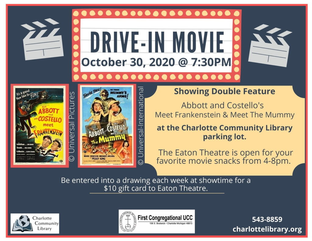 Oct 30 Drive-In meeting
