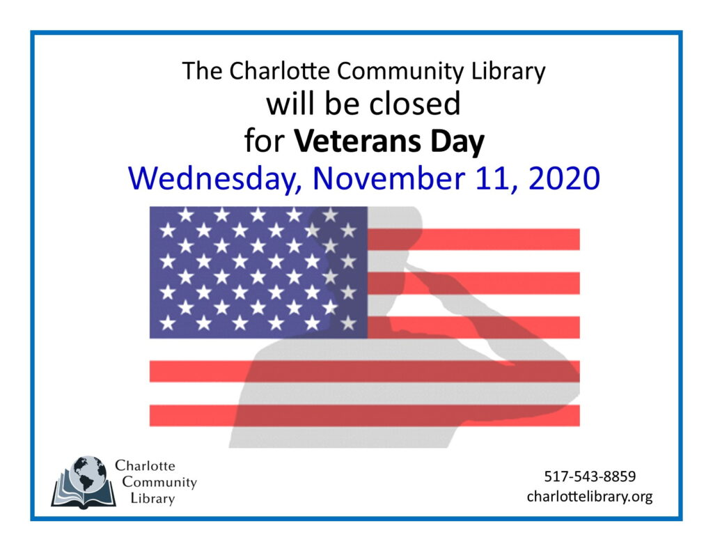 Veterans Day-Library Closed